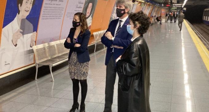 Homenaje en Metro Madrid a mujeres relevantes de la Historia en el Día Internacional de la Mujer