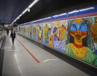 La Comunidad de Madrid inaugura dos nuevos murales en la estación de Metro de Colombia