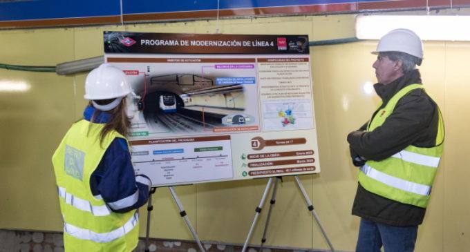 La Comunidad de Madrid moderniza la línea 4 de Metro y las obras avanzan ya más del 50%