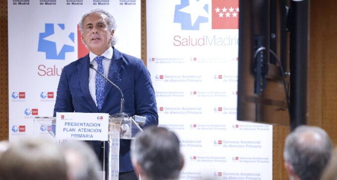 En marcha un Plan con 200 millones de euros para reforzar la atención en los centros de salud de la Comunidad de Madrid