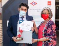 Reconocimiento de Cruz Roja a la Comunidad de Madrid  por la labor de Metro durante la  pandemia