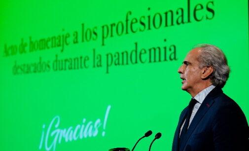 Madrid reconoce el coraje cívico de los policías locales y sanitarios durante la pandemia por COVID-19