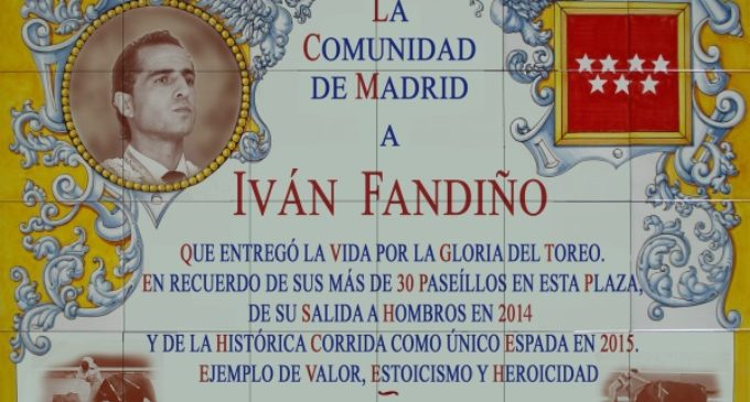 La Comunidad de Madrid rinde homenaje a Iván Fandiño en Las Ventas