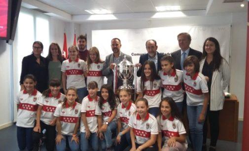 La Comunidad homenajea a la Selección Madrileña de Fútbol Sala Femenino Sub – 12