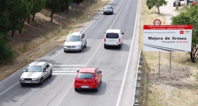 Mejora, este verano, de los firmes de más de 400 kilómetros de carreteras de la Comunidad de Madrid