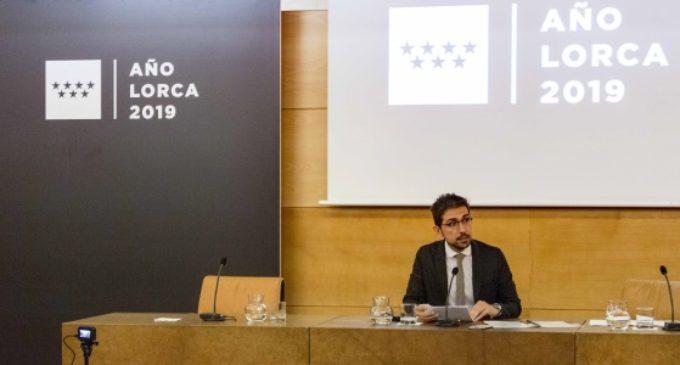 La Comunidad reivindica la dimensión madrileña de Federico García Lorca