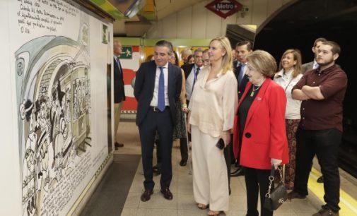 Homenaje a Antonio Mingote con la tematización de la estación de Metro de Rubén Darío