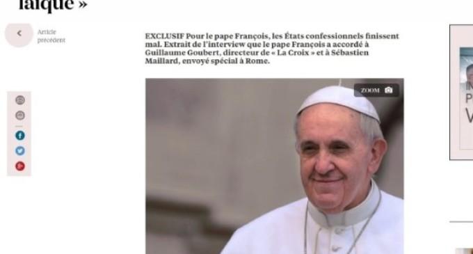 Entrevista de La Croix al Papa: Islamismo, inmigración, integración y terrorismo