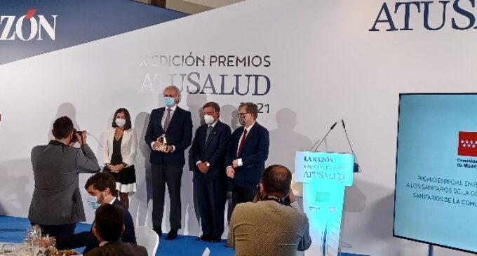 La Sanidad madrileña, premio especial concedido por el suplemento A Tu salud