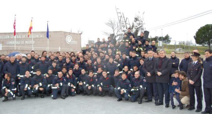 La mayor promoción de aspirantes a bombero de la Comunidad de Madrid comienza su formación específica