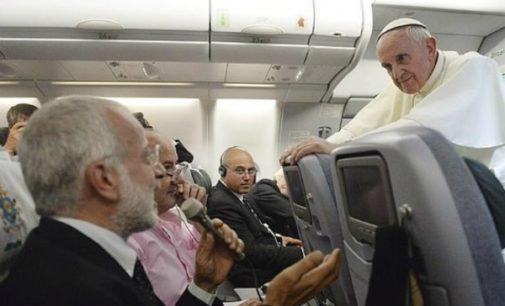 Las 10 cosas que el Papa Francisco dice a los periodistas