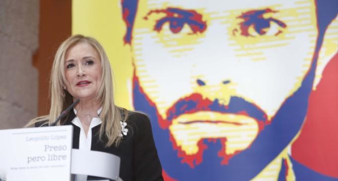 """""""La defensa de la democracia y la libertad nos obliga a todos: en Venezuela y en España"""", afirma Cristina Cifuentes"""