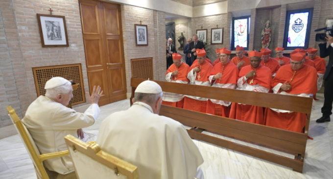 Los nuevos cardenales visitan a Benedicto XVI