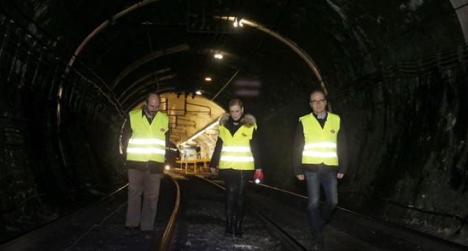 Cifuentes anuncia una inversión de más de 69 millones para mejorar el túnel de la línea 1 de Metro