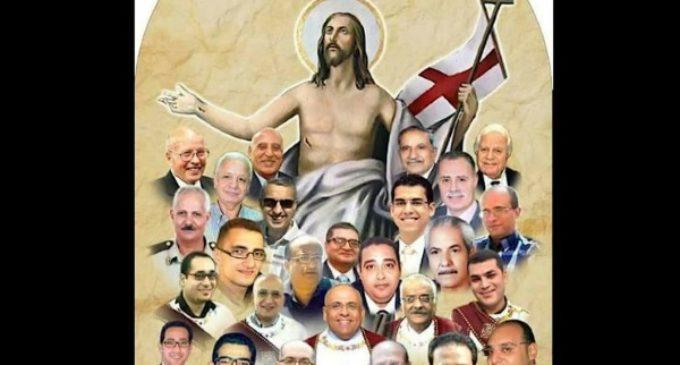 Así recuerdan a los cristianos coptos de Tanta, martirizados por el ISIS en el Domingo de Ramos