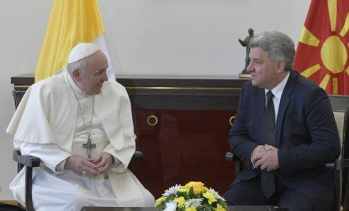 Macedonia del Norte: El Papa dialoga con el Presidente de la República
