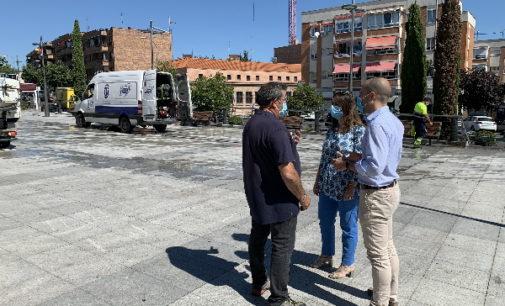 Majadahonda: El Ayto. inicia  un plan de limpieza de choque estival en los  espacios más transitados