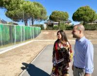 El Monte del Pilar estrena un mural de arte urbano y una pista de petanca