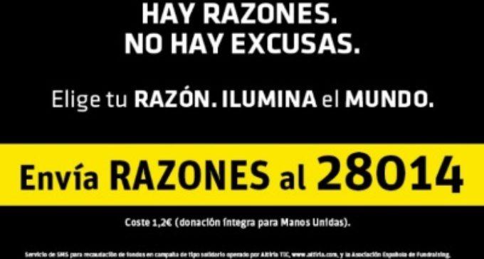 Campaña de Manos Unidas «Para iluminar el mundo…  hay razones, no hay excusas»