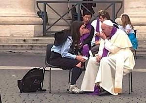 Me confesé con el Papa
