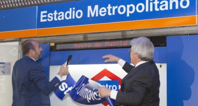 Rollán y Cerezo presentan el nuevo nombre de la estación de Metro Estadio Metropolitano