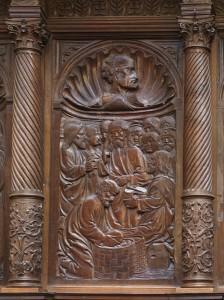 Multiplicacion de los panes y los peces.Taller de Felipe Bigarny.  1505-1512.