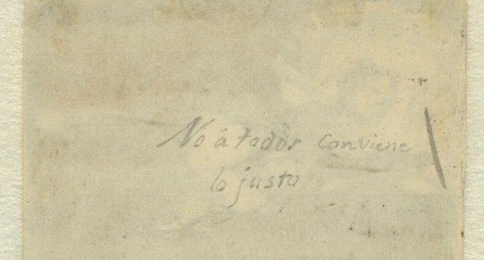 El Museo del Prado descubre un nuevo título manuscrito por Goya en un dibujo relacionado con la Justicia