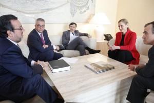 CIFUENTES se reúne con el Presidente y otros representantes de la ONCE. Foto: D.Sinova / Comunidad de Madrid