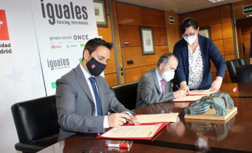 La Comunidad de Madrid y la ONCE suman fuerzas para impulsar la integración laboral de las personas con discapacidad
