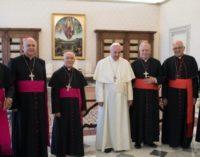 Saludo de los obispos venezolanos en la audiencia con el Papa