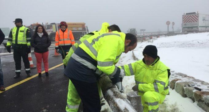 Antes del inicio de la temporada de esquí, han finalizado las obras de mejora de la carretera M-601 en Navacerrada