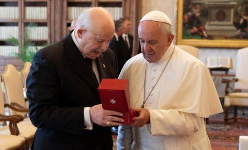 Orden de Malta: Francisco anima al Gran Maestre a seguir comprometidos con los más débiles