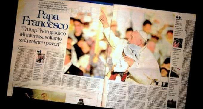 """Francisco al periódico La Repubblica: """"Construir puentes para disminuir las desigualdades"""""""