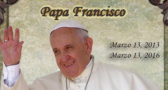 El 13 de marzo se cumplieron tres años de la elección del Papa Francisco