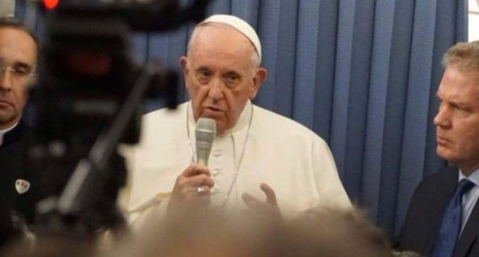 """Papa Francisco: """"No diré una palabra"""" sobre la carta de ex nuncio Viganó sobre caso McCarrick"""
