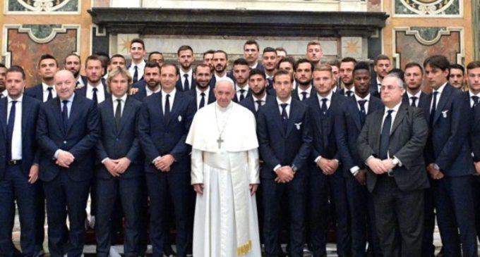 """El Papa a los equipos Juventus y Lazio: """"Dar testimonio de los valores auténticos del deporte"""""""
