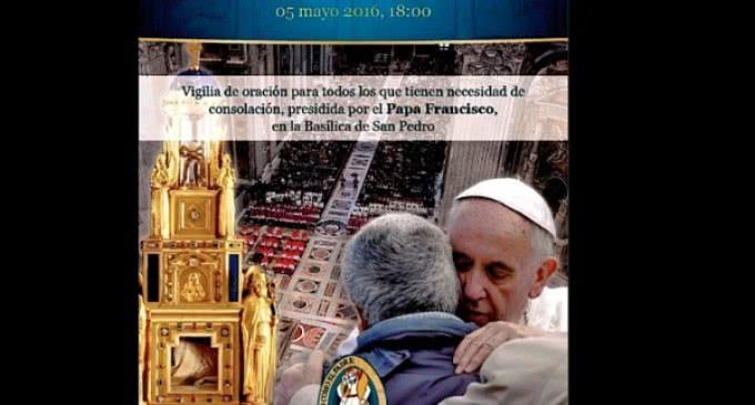 """El 5 de mayo, el Papa presidirá, en la Basílica de San Pedro, la vigilia de oración para """"enjugar las lágrimas"""""""
