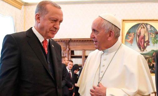 El Papa y Erdogan se encuentran en el Vaticano para defender el statu quo de Jerusalén