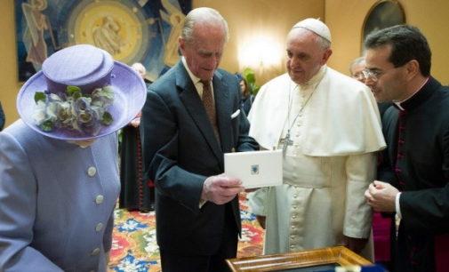 Pésame del Papa por la muerte del Príncipe Felipe