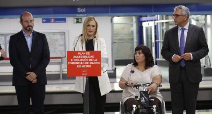 141 millones para el Plan de Accesibilidad de la Comunidad en Metro que facilitará la movilidad a todos los madrileños