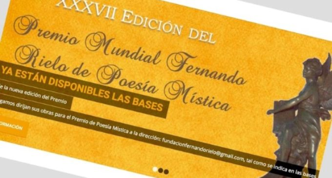XXXVII Premio Fernando Rielo de Poesía Mística se fallará en Roma