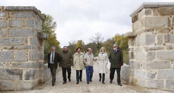 Finaliza la restauración del puente junto a Monesterio, entre San Lorenzo de El Escorial y El Escorial
