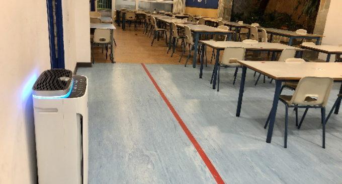 Purificadores de aire en el aula: los centros educativos se reinventan para garantizar la seguridad de sus alumnos frente a la Covid-19