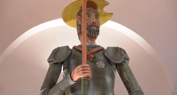 El Quijote de mazapán «más grande y dulce del mundo» se ha presentado en Toledo