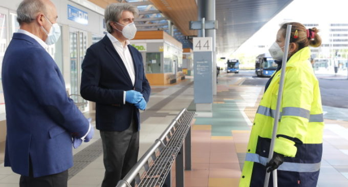 Reconocimiento  a los profesionales de la red de autobuses de transporte público en la crisis del coronavirus