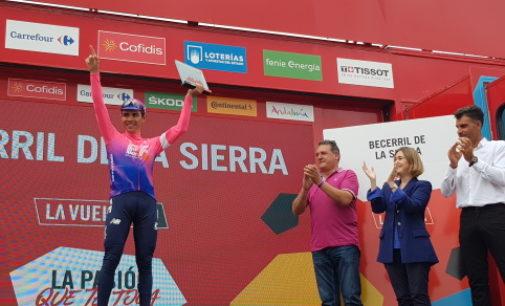 Rivera felicita al vencedor de la 18ª etapa de la Vuelta Ciclista a España
