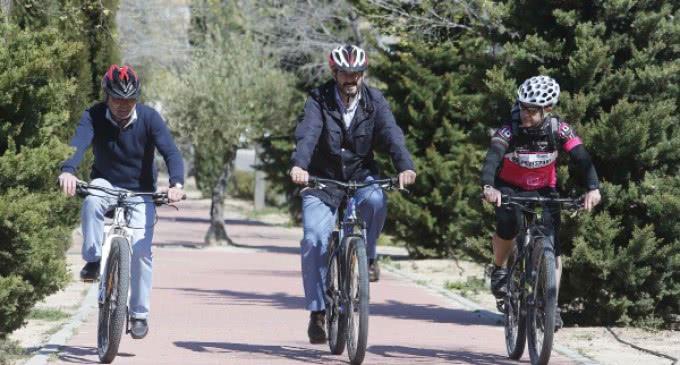 Valdebebas tiene una nueva Ruta Verde de 9 kilómetros que recorre el parque Felipe VI