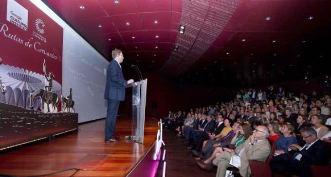 Fernández de Córdova, en la presentación de 'Las Rutas de Cervantes' del Instituto de Cultura Google