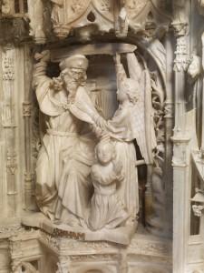 Sacrificio de Isaac. Gil de Siloe. 1489-1493