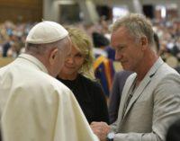Sting presenta el espectáculo 'Juicio universal' al Papa Francisco